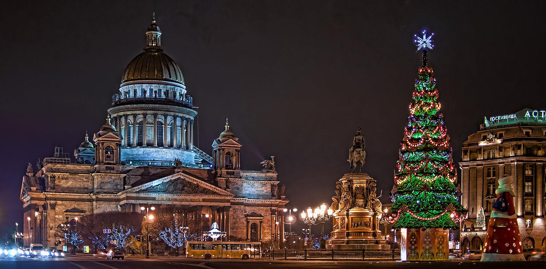 Экскурсии в Санкт-Петербург на Новый год